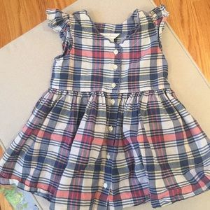 Ralph Lauren plaid sleeveless dress 12month